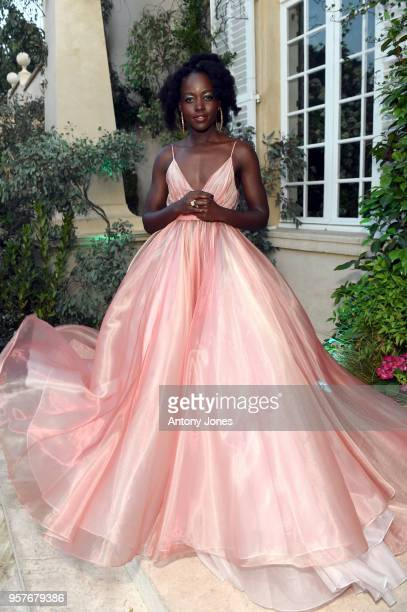 Lupita Nyong'o attends Chopard Secret Night during the 71st annual Cannes Film Festival at Chateau de la Croix des Gardes on May 11 2018 in Cannes...