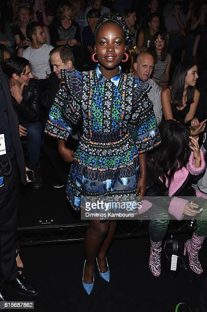 Lupita Nyong'o attends KENZO x HM Launch Event Directed By JeanPaul Goude' at Pier 36 on October 19 2016 in New York City