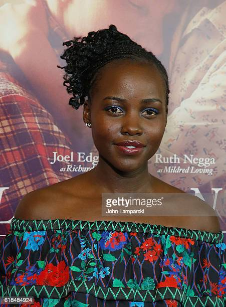 Lupita Nyong'o attends Loving New York Premiere at Landmark Sunshine Theater on October 26 2016 in New York City