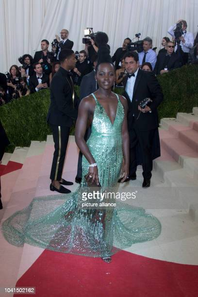 Lupita Nyong'o attends 'Manus x Machina Fashion In An Age Of Technology' Costume Institute Gala at Metropolitan Museum of Art in New York City USA on...