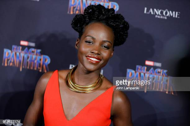 Lupita Nyong'o attends Marvel Studios Presents Black Panther Welcome To Wakanda during February 2018 New York Fashion Week The Shows at Industria...