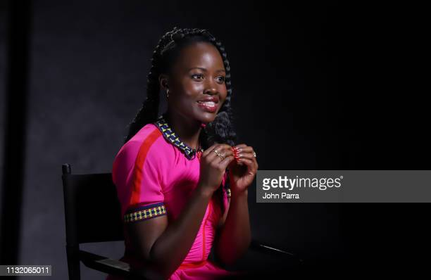 Lupita Nyong'o attends Mujeres Imparables Fireside Chat at Telemundo Center in support of US on March 21 2019 in Miami Florida
