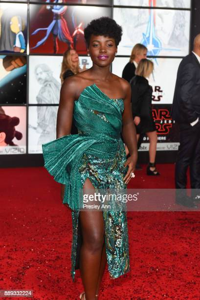 Lupita Nyong'o attends Premiere Of Disney Pictures And Lucasfilm's 'Star Wars The Last Jedi' Arrivals at The Shrine Auditorium on December 9 2017 in...