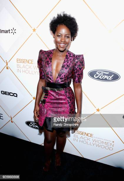 Lupita Nyong'o attends the 2018 Essence Black Women In Hollywood Oscars Luncheon at Regent Beverly Wilshire Hotel on March 1 2018 in Beverly Hills...