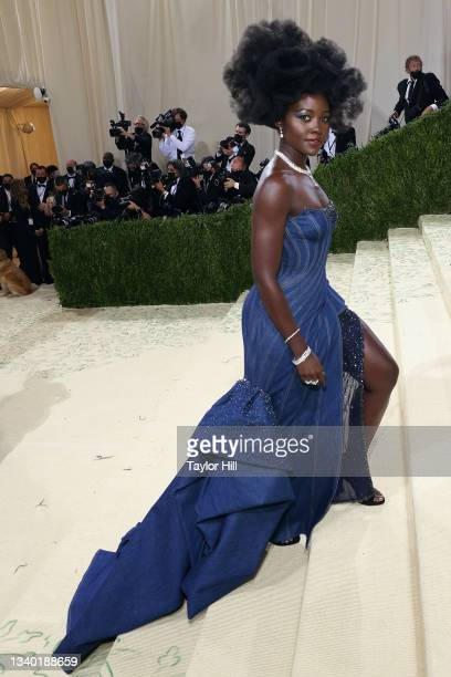 """Lupita Nyong'o attends the 2021 Met Gala benefit """"In America: A Lexicon of Fashion"""" at Metropolitan Museum of Art on September 13, 2021 in New York..."""