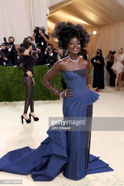 Lupita Nyong'o attends The 2021 Met Gala Celebrating In America: A Lexicon Of Fashion at Metropolitan Museum of Art on September 13, 2021 in New York...