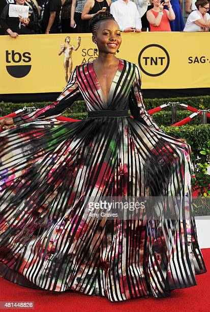 Lupita Nyong'o attends the 21st Annual Screen Actors Guild Awards at the Shrine Auditorium on January 25 2015 in Los Angeles California
