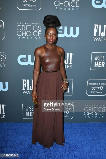 Lupita Nyong'o attends the 25th Annual Critics' Choice Awards at Barker Hangar on January 12, 2020 in Santa Monica, California.