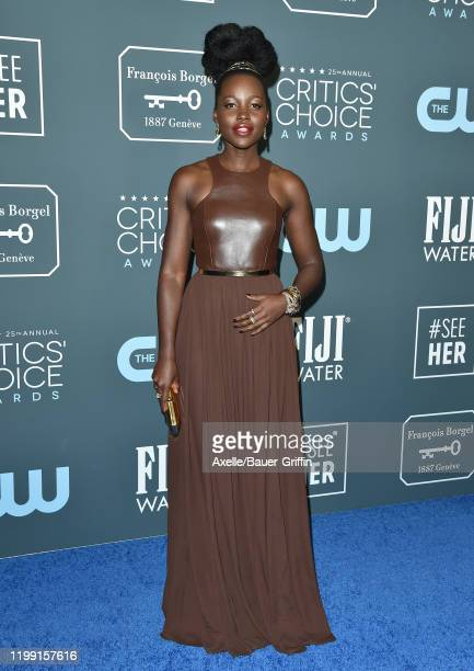 Lupita Nyong'o attends the 25th Annual Critics' Choice Awards at Barker Hangar on January 12 2020 in Santa Monica California