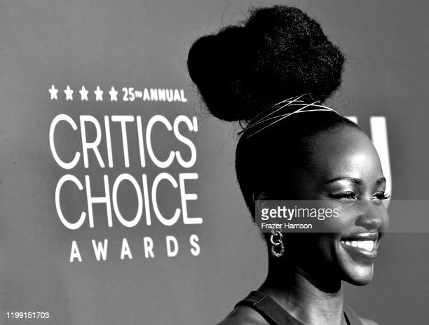 Lupita Nyong'o attends the 25th Annual Critics' Choice Awardsat Barker Hangar on January 12, 2020 in Santa Monica, California.