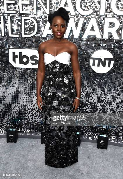 Lupita Nyong'o attends the 26th Annual Screen Actors Guild Awards at The Shrine Auditorium on January 19 2020 in Los Angeles California