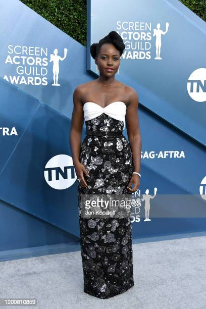 Lupita Nyong'o attends the 26th Annual Screen ActorsGuild Awards at The Shrine Auditorium on January 19 2020 in Los Angeles California