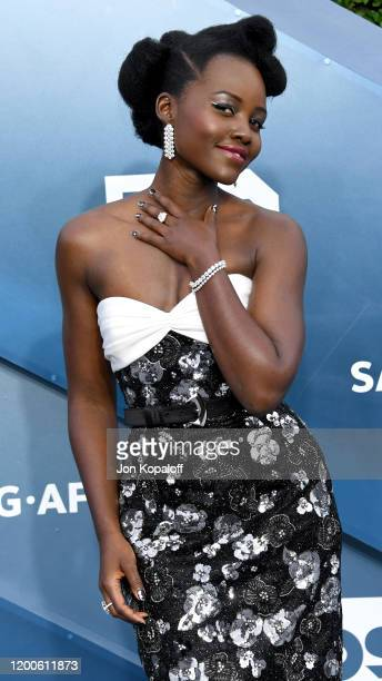Lupita Nyong'o attends the 26th Annual Screen Actors Guild Awards at The Shrine Auditorium on January 19, 2020 in Los Angeles, California.