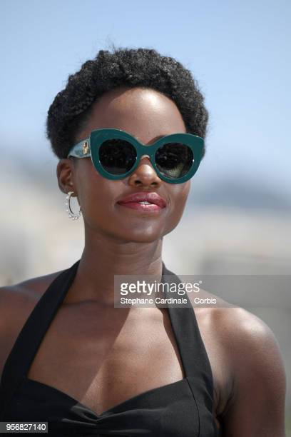 Lupita Nyong'o attends the 355 Photocall during the 71st annual Cannes Film Festival at Palais des Festivals on May 10 2018 in Cannes France