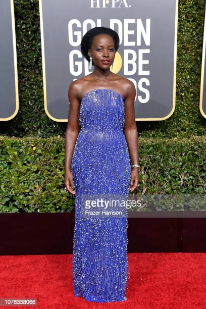 Lupita Nyong'o attends the 76th Annual Golden Globe Awards at The Beverly Hilton Hotel on January 6, 2019 in Beverly Hills, California.