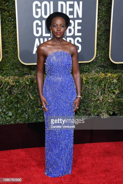 Lupita Nyong'o attends the 76th Annual Golden Globe Awards at The Beverly Hilton Hotel on January 06 2019 in Beverly Hills California