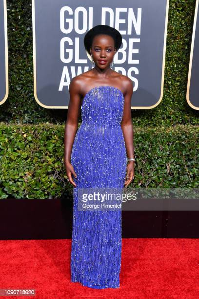 Lupita Nyong'o attends the 76th Annual Golden Globe Awards held at The Beverly Hilton Hotel on January 06 2019 in Beverly Hills California