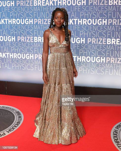 Lupita Nyong'o attends the 7th Annual Breakthrough Prize Ceremony at NASA Ames Research Center on November 4 2018 in Mountain View California