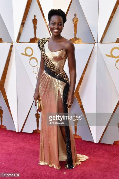Lupita Nyong'o attends the 90th Annual Academy Awards at Hollywood Highland Center on March 4 2018 in Hollywood California