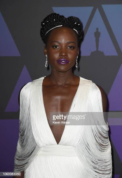 Lupita Nyong'o attends the Academy of Motion Picture Arts and Sciences' 10th annual Governors Awards at The Ray Dolby Ballroom at Hollywood Highland...
