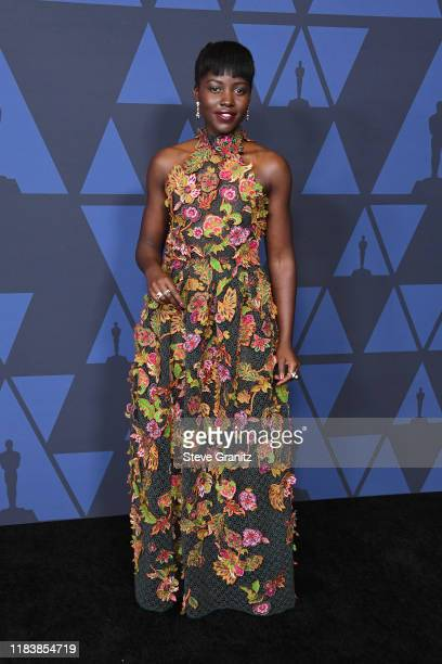 Lupita Nyong'o attends the Academy Of Motion Picture Arts And Sciences' 11th Annual Governors Awards at The Ray Dolby Ballroom at Hollywood &...