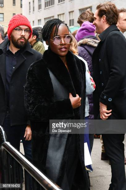 Lupita Nyong'o attends the 'Angels in America' Broadway Opening Night part 1 arrivals at the Neil Simon Theatre on March 25 2018 in New York City