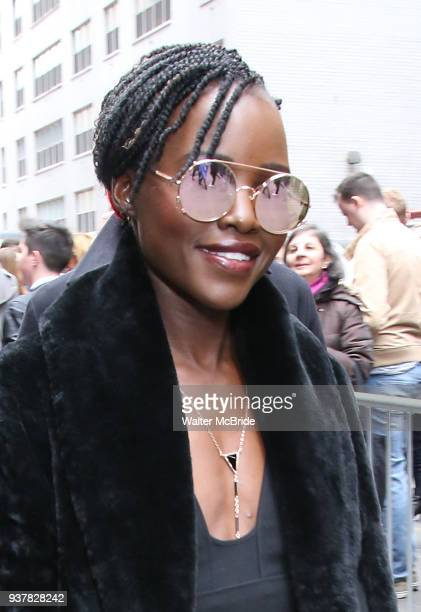 Lupita Nyong'o attends the Broadway Opening Night Arrivals for 'Angels In America' Part One and Part Two at the Neil Simon Theatre on March 25 2018...