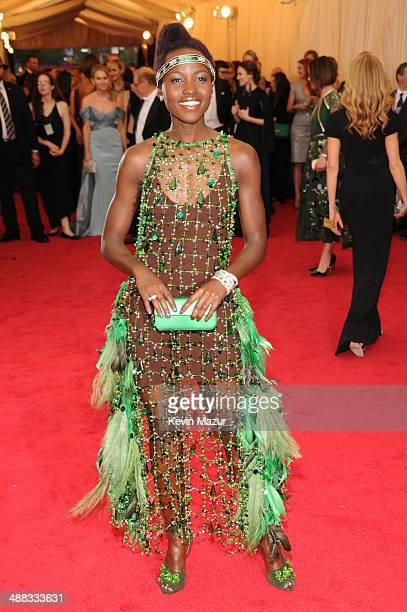 Lupita Nyong'o attends the Charles James Beyond Fashion Costume Institute Gala at the Metropolitan Museum of Art on May 5 2014 in New York City