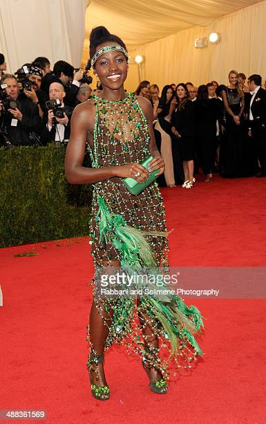 "Lupita Nyong'o attends the ""Charles James: Beyond Fashion"" Costume Institute Gala at the Metropolitan Museum of Art on May 5, 2014 in New York City."