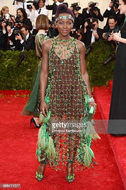 Lupita Nyong'o attends the 'Charles James Beyond Fashion' Costume Institute Gala at the Metropolitan Museum of Art on May 5 2014 in New York City