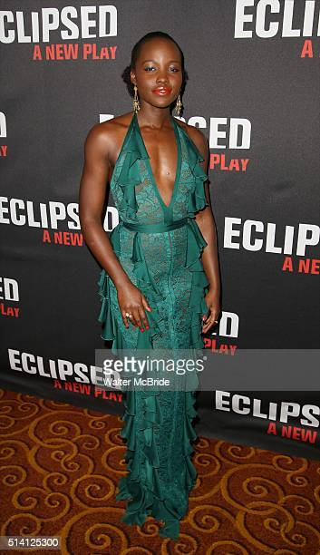 Lupita Nyong'o attends the 'Eclipsed' broadway opening night after party at Gotham Hall on March 6 2016 in New York City