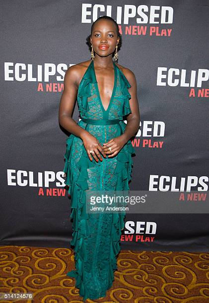 Lupita Nyong'o attends the Eclipsed Broadway opening night at Gotham Hall on March 6 2016 in New York City