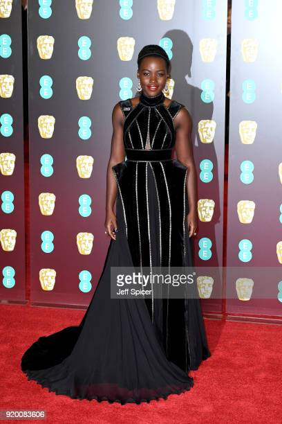 Lupita Nyong'o attends the EE British Academy Film Awards held at Royal Albert Hall on February 18 2018 in London England