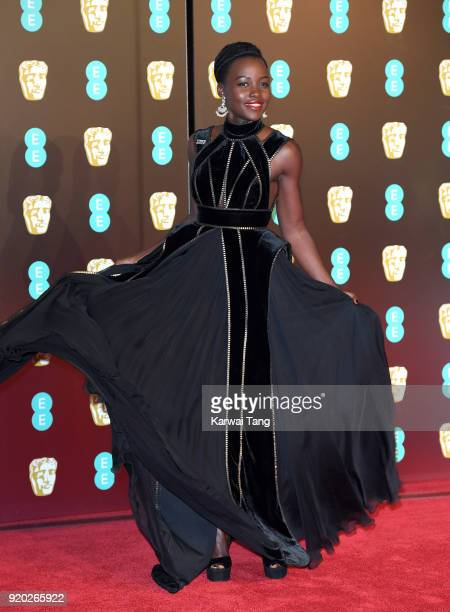 Lupita Nyong'o attends the EE British Academy Film Awards held at the Royal Albert Hall on February 18 2018 in London England