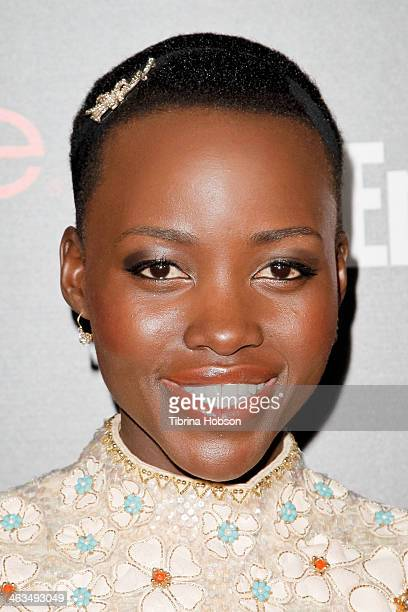 Lupita Nyong'o attends the Entertainment Weekly SAG Awards preparty at Chateau Marmont on January 17 2014 in Los Angeles California