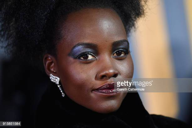 Lupita Nyong'o attends the European Premiere of Marvel Studios' 'Black Panther' at the Eventim Apollo Hammersmith on February 8 2018 in London England