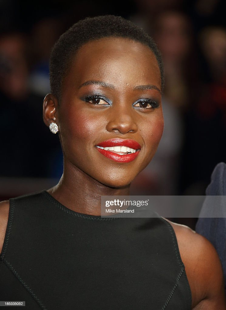 Lupita Nyong'o attends the European Premiere of 'Twelve Years A Slave' during the 57th BFI London Film Festival at Odeon Leicester Square on October 18, 2013 in London, England.