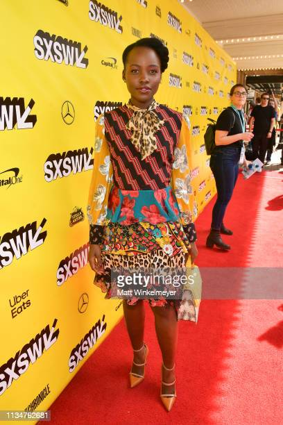 Lupita Nyong'o attends the Little Monsters Premiere 2019 SXSW Conference and Festivals at Paramount Theatre on March 09 2019 in Austin Texas