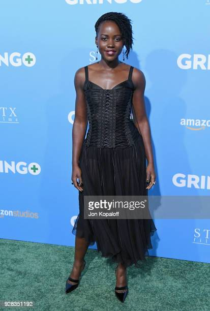 Lupita Nyong'o attends the Los Angeles Premiere 'Gringo' at Regal LA Live Stadium 14 on March 6 2018 in Los Angeles California