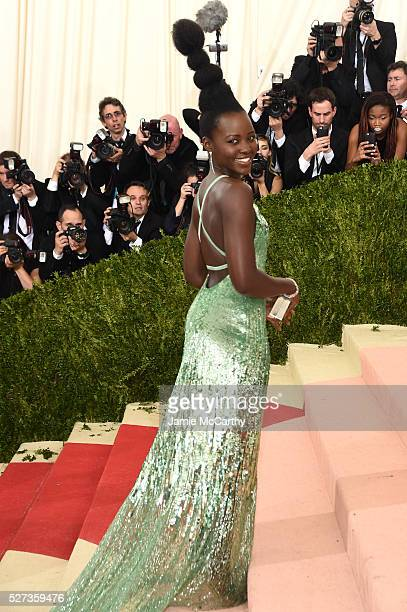 Lupita Nyong'o attends the 'Manus x Machina Fashion In An Age Of Technology' Costume Institute Gala at Metropolitan Museum of Art on May 2 2016 in...