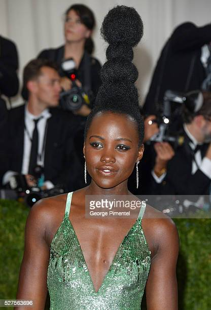 Lupita Nyong'o attends the 'Manus x Machina: Fashion in an Age of Technology' Costume Institute Gala at the Metropolitan Museum of Art on May 2, 2016...