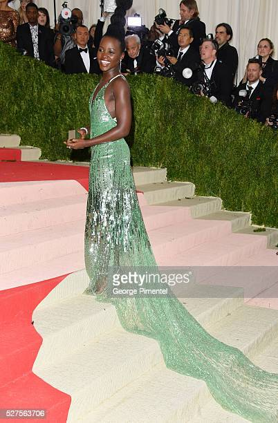 Lupita Nyong'o attends the 'Manus x Machina Fashion in an Age of Technology' Costume Institute Gala at the Metropolitan Museum of Art on May 2 2016...
