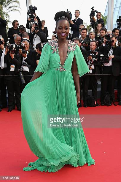 Lupita Nyong'o attends the opening ceremony and premiere of La Tete Haute during the 68th annual Cannes Film Festival on May 13 2015 in Cannes France