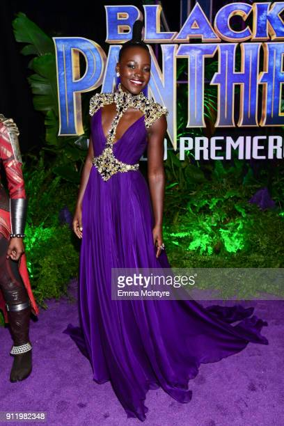 Lupita Nyong'o attends the premiere Of Disney and Marvel's 'Black Panther' at Dolby Theatre on January 29 2018 in Hollywood California