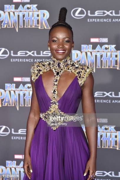 Lupita Nyong'o attends the Premiere Of Disney And Marvel's 'Black Panther' Arrivals on January 29 2018 in Hollywood California