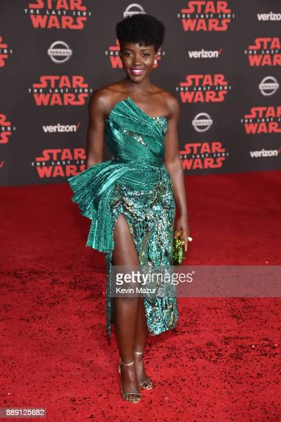 Lupita Nyong'o attends the premiere of Disney Pictures and Lucasfilm's 'Star Wars The Last Jedi' at The Shrine Auditorium on December 9 2017 in Los...