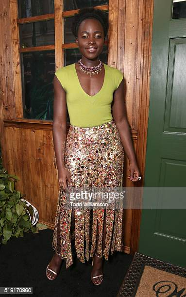 Lupita Nyong'o attends the premiere of Disney's The Jungle Bookat the El Capitan Theatre on April 4 2016 in Hollywood California
