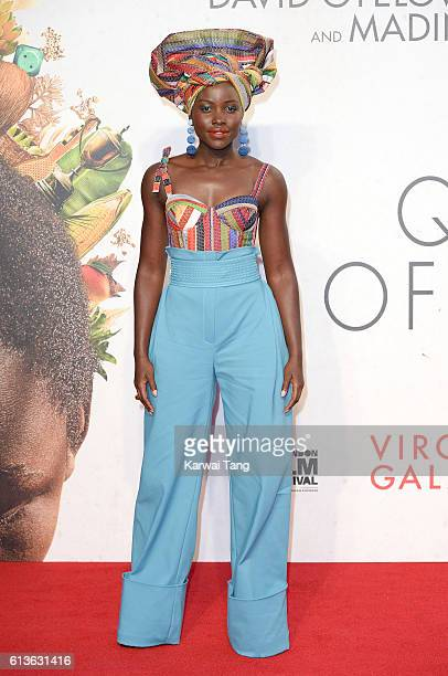 Lupita Nyong'o attends the 'Queen Of Katwe' Virgin Atlantic Gala screening during the 60th BFI London Film Festival at Odeon Leicester Square on...