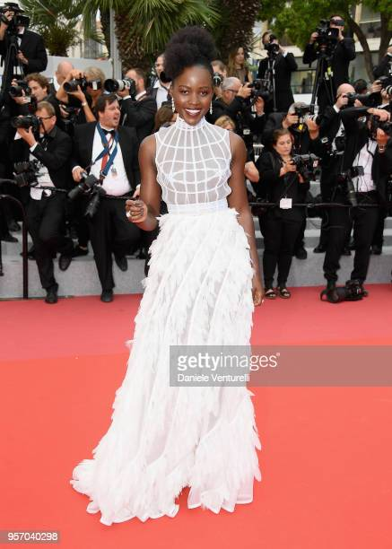 Lupita Nyongo attends the screening of Sorry Angel during the 71st annual Cannes Film Festival at Palais des Festivals on May 10 2018 in Cannes France