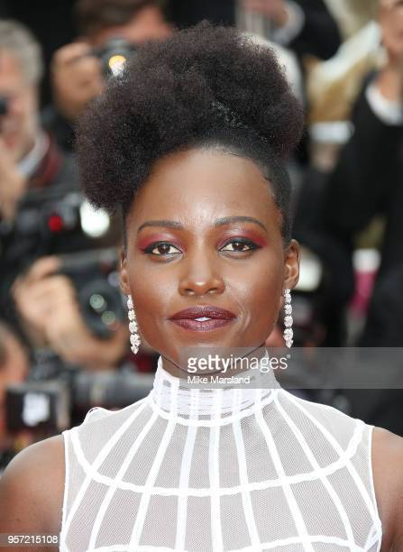 """Lupita Nyong'o attends the screening of """"Sorry Angel """" during the 71st annual Cannes Film Festival at Palais des Festivals on May 10, 2018 in Cannes,..."""